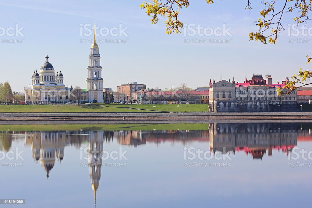 The building of the Cathedral and the Museum in Rybinsk stock photo
