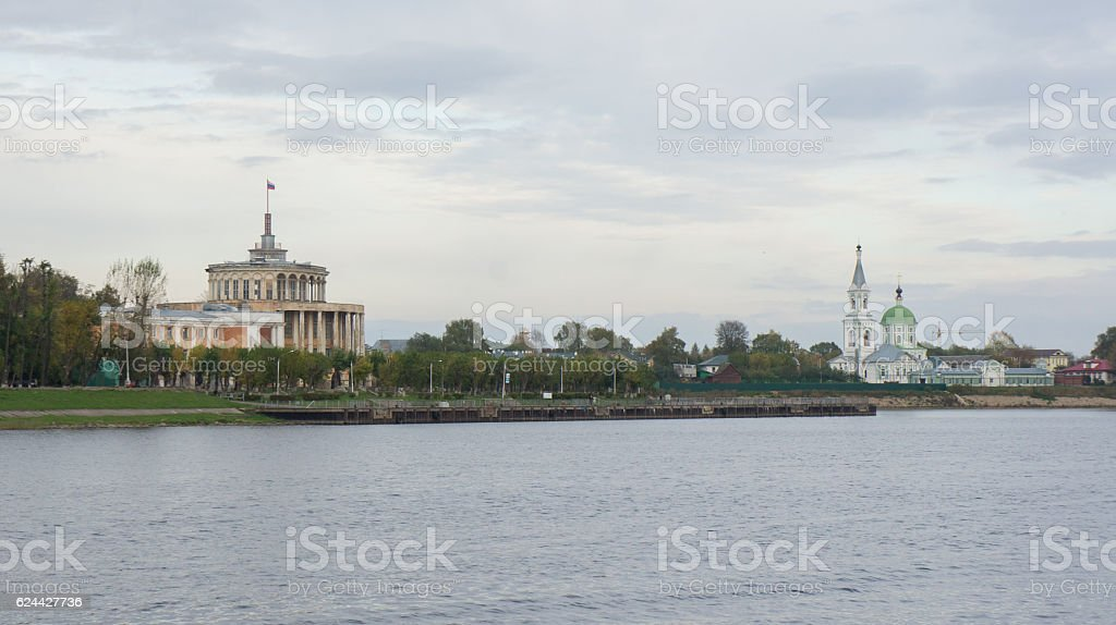 The building of the river station and Catherine nunnery stock photo