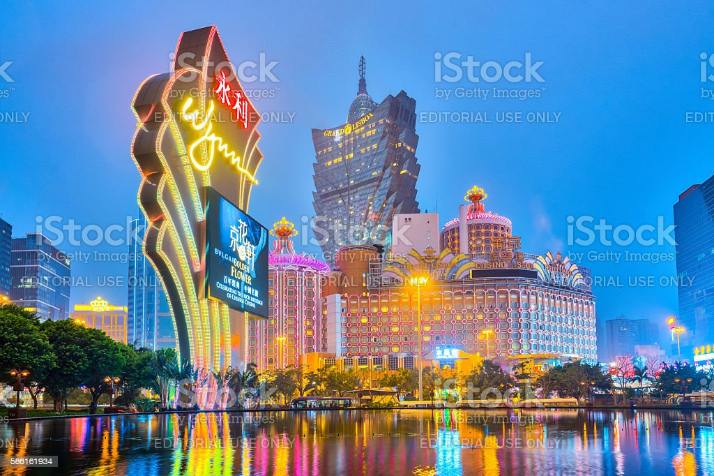 The Buildings of casino in Macau, China stock photo