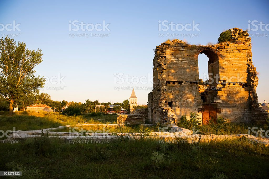 The buildings of the Ottoman Imperial Palace in Edirne stock photo
