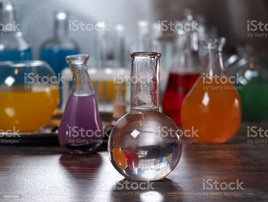 The bulb with clear water. stock photo
