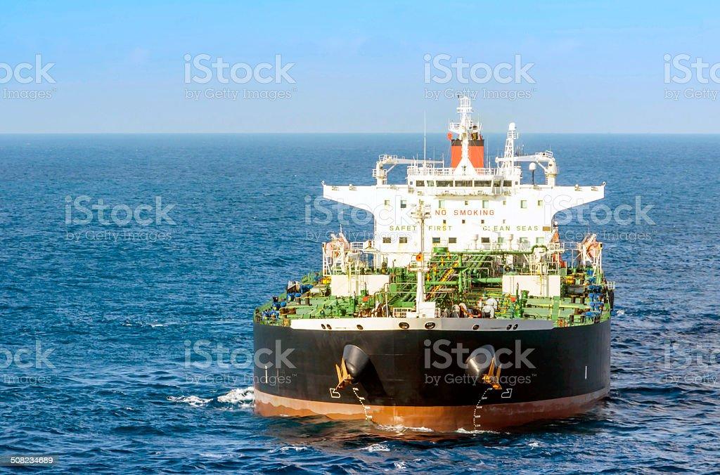 The bulk-oil tanker stock photo