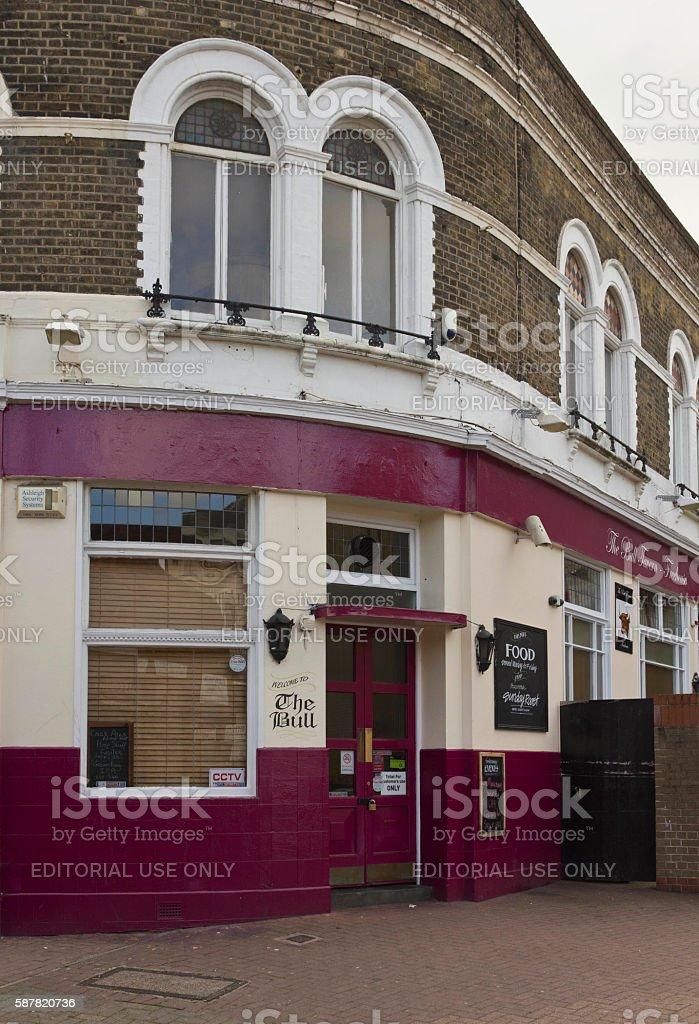 The Bull  pub in London suburbs stock photo