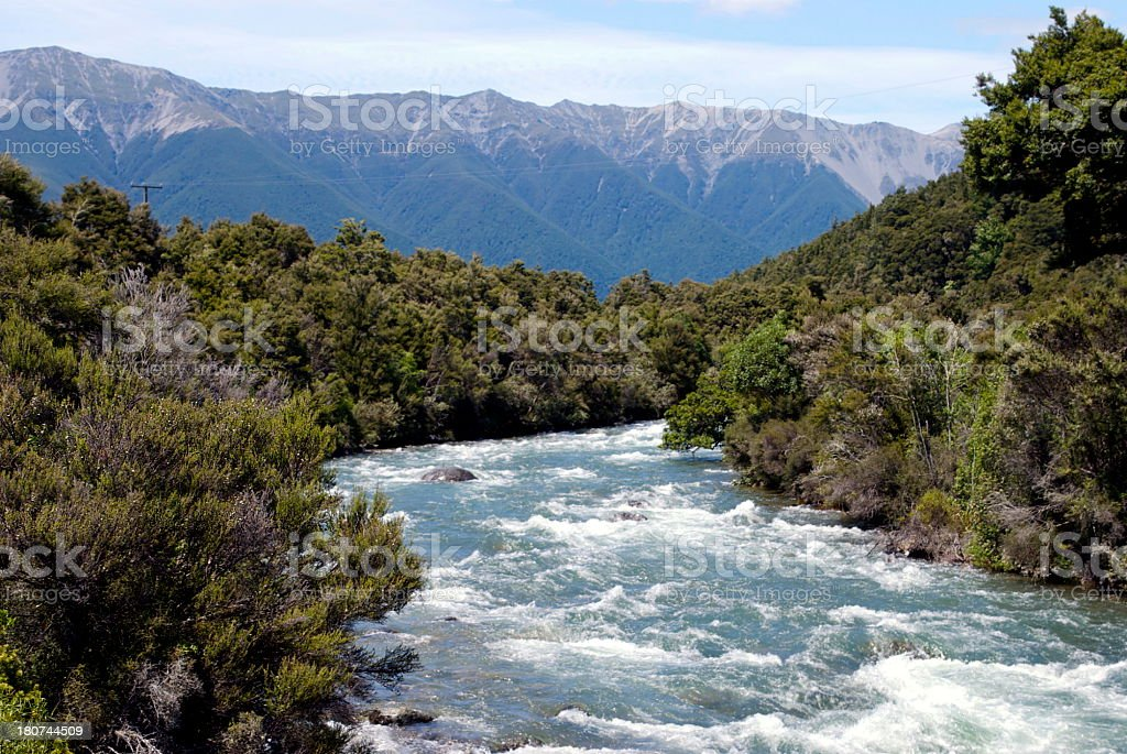 The Buller River, South Island, New Zealand royalty-free stock photo
