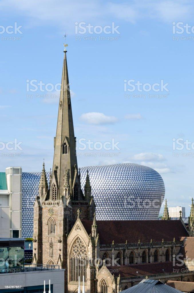 The bullring building in Birmingham, UK royalty-free stock photo