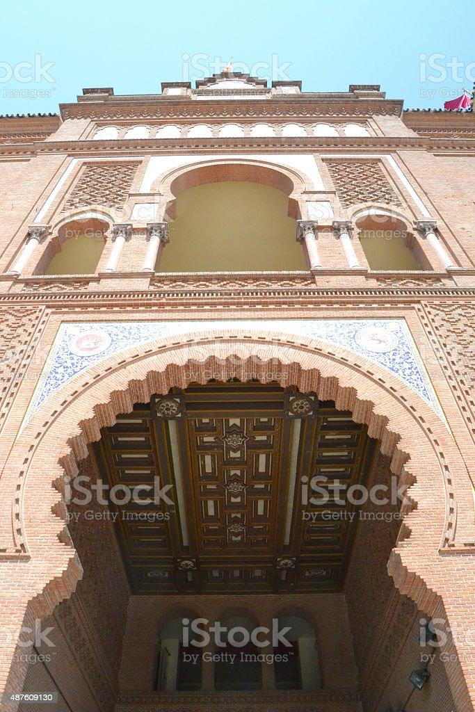 Las Ventas bullring (La puerta grande) stock photo