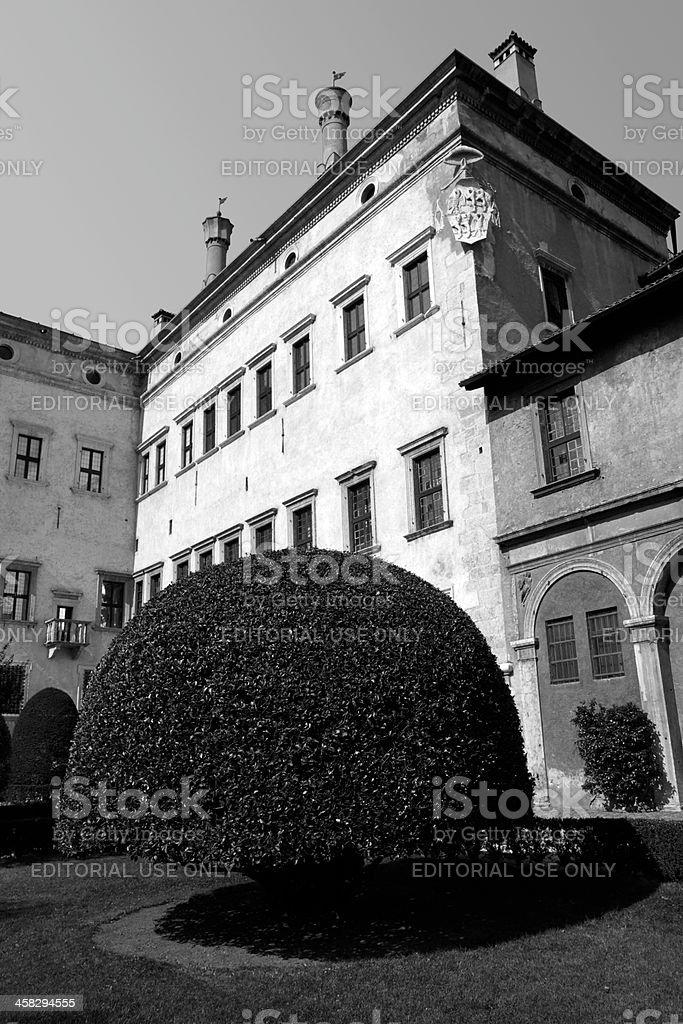 The Buonconsiglio Castle royalty-free stock photo