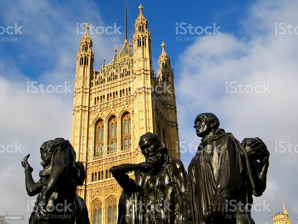 The Burghers of Calais stock photo