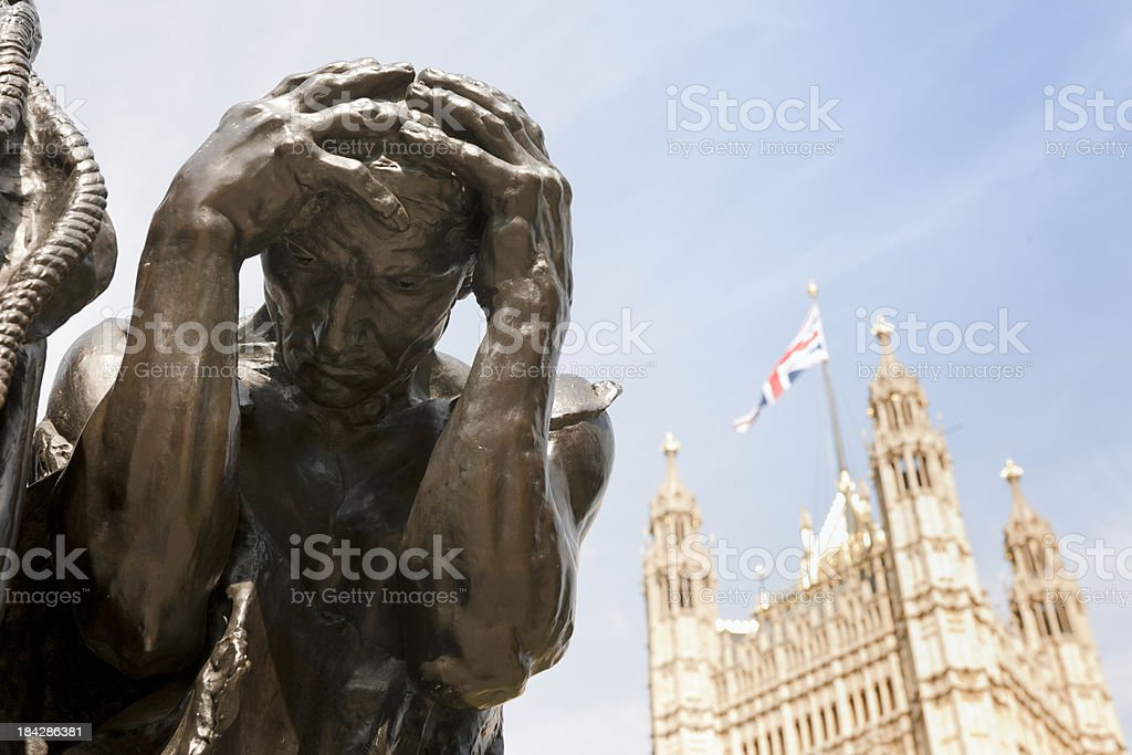 The Burghers of Calais sculpture by Auguste Rodin, London UK stock photo