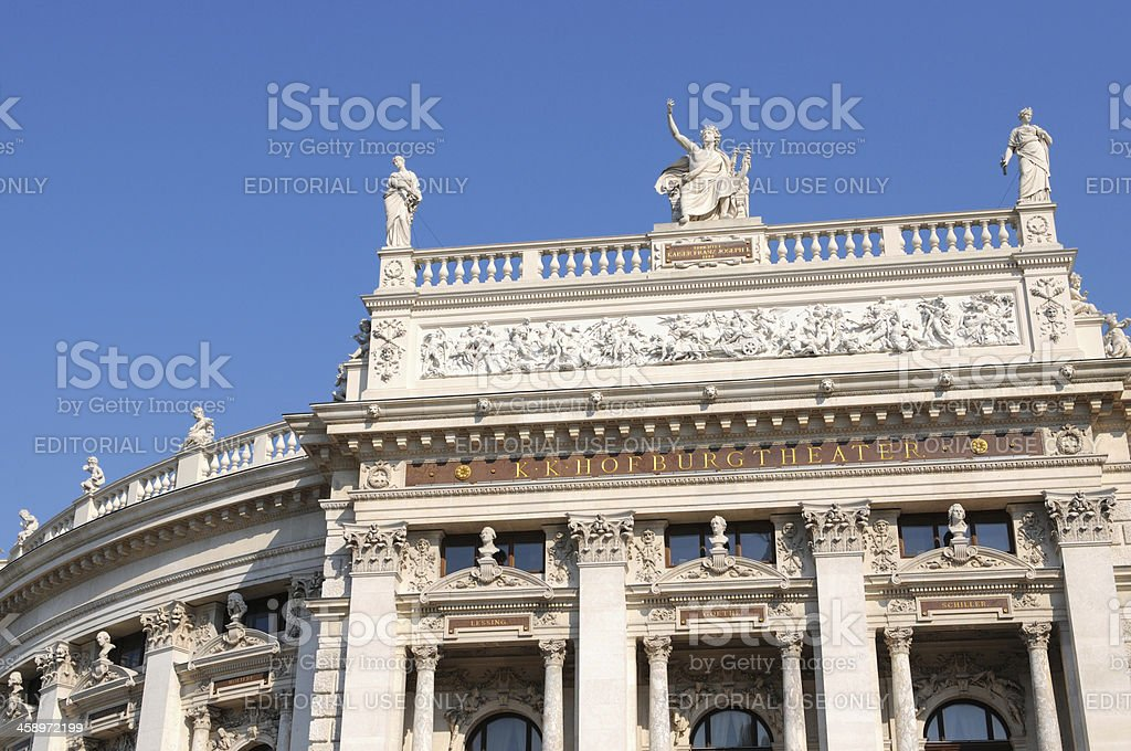 The Burgtheater Imperial Court Theater in Vienna (Austria) stock photo
