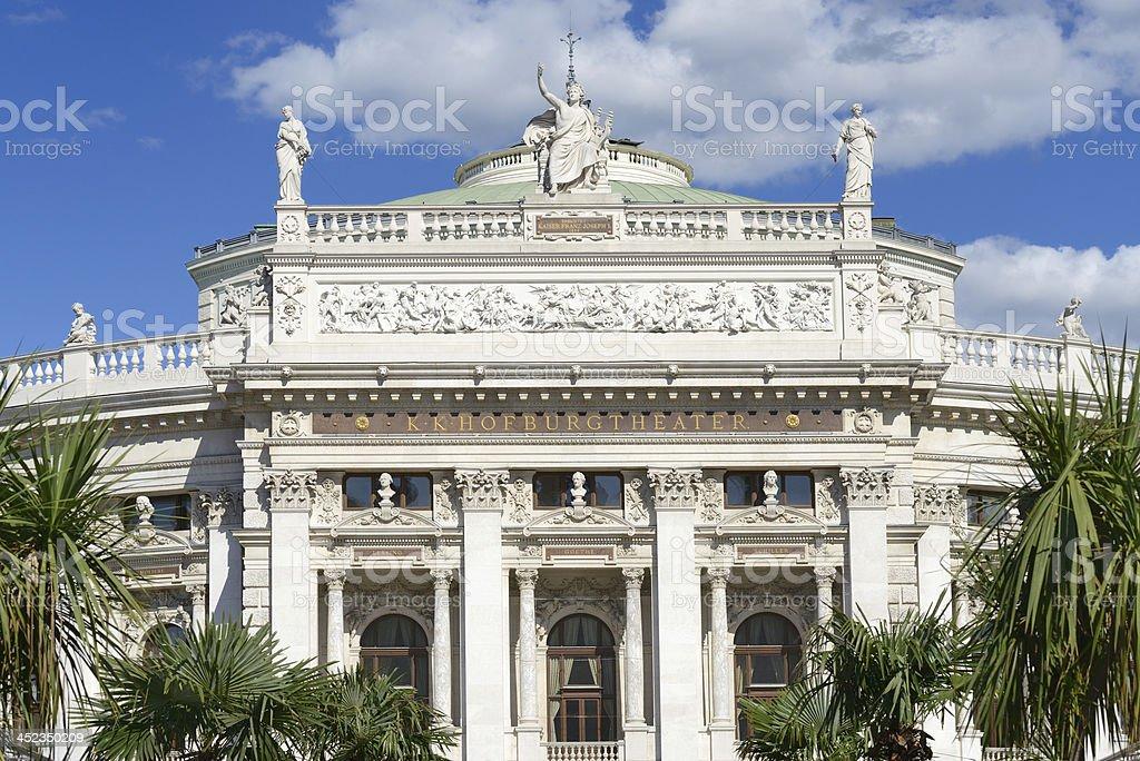 The Burgtheater, Vienna stock photo
