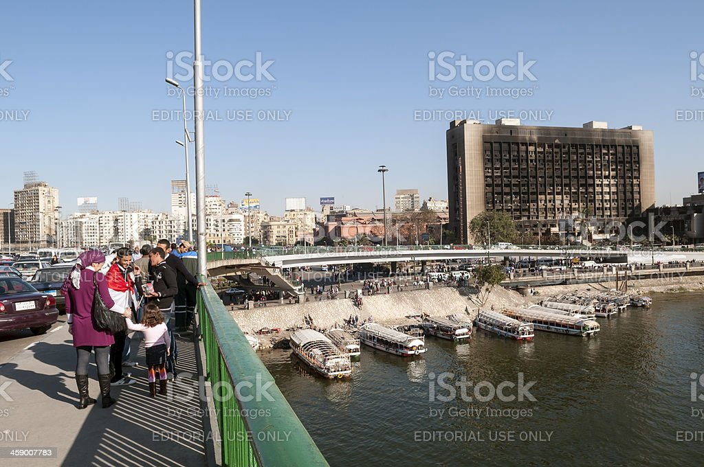 Political change in Egypt royalty-free stock photo