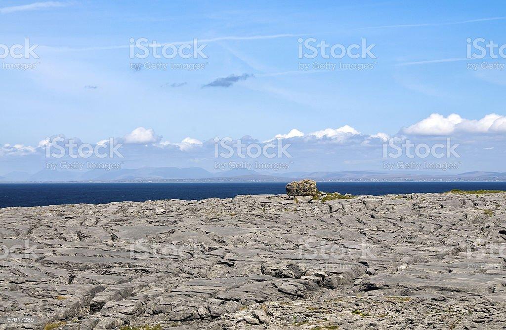 The Burren at Black Head royalty-free stock photo
