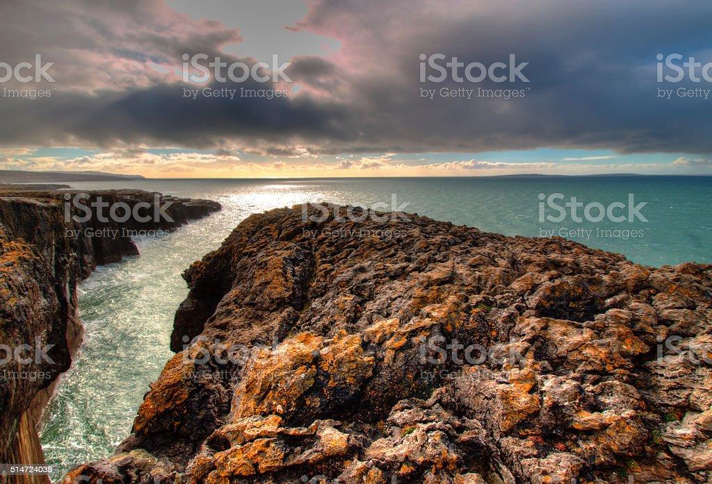 The Burren in Ireland stock photo