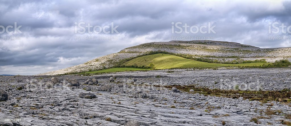The Burren is a karst-landscape region royalty-free stock photo