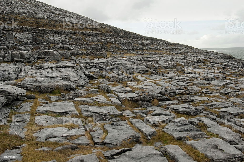 The Burren Landscape, Co. Clare - Ireland royalty-free stock photo