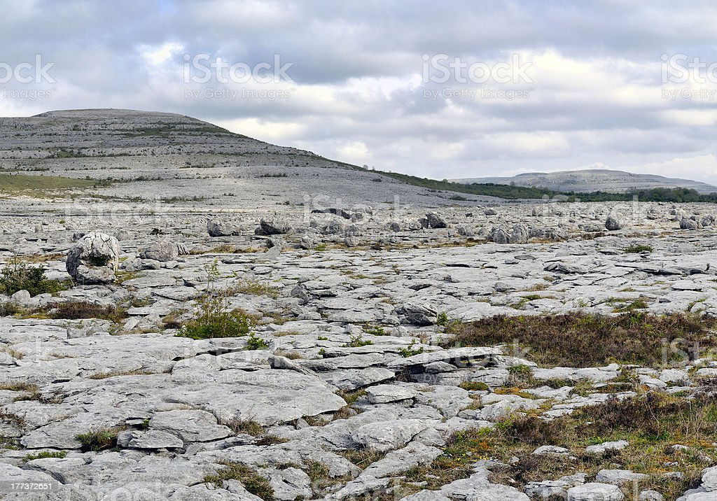 The Burren Landscape royalty-free stock photo