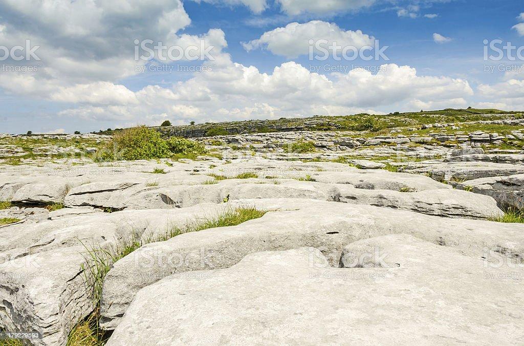 The Burren National Park limestone landscape royalty-free stock photo