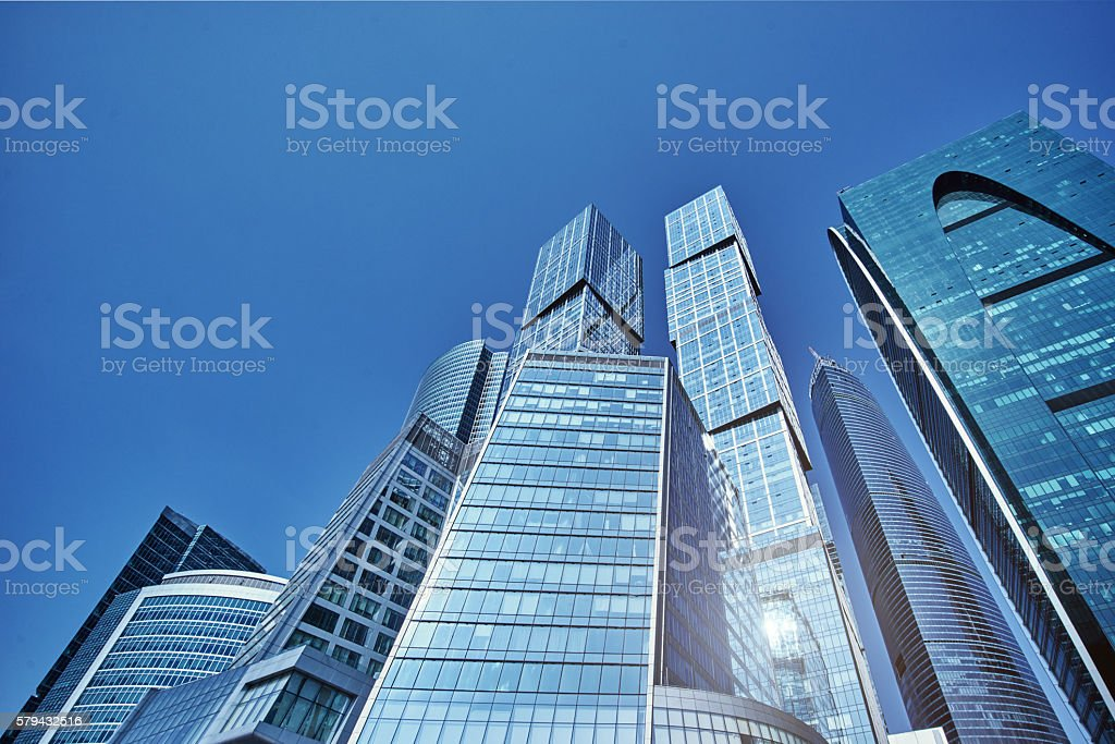 The business center of Moscow City stock photo
