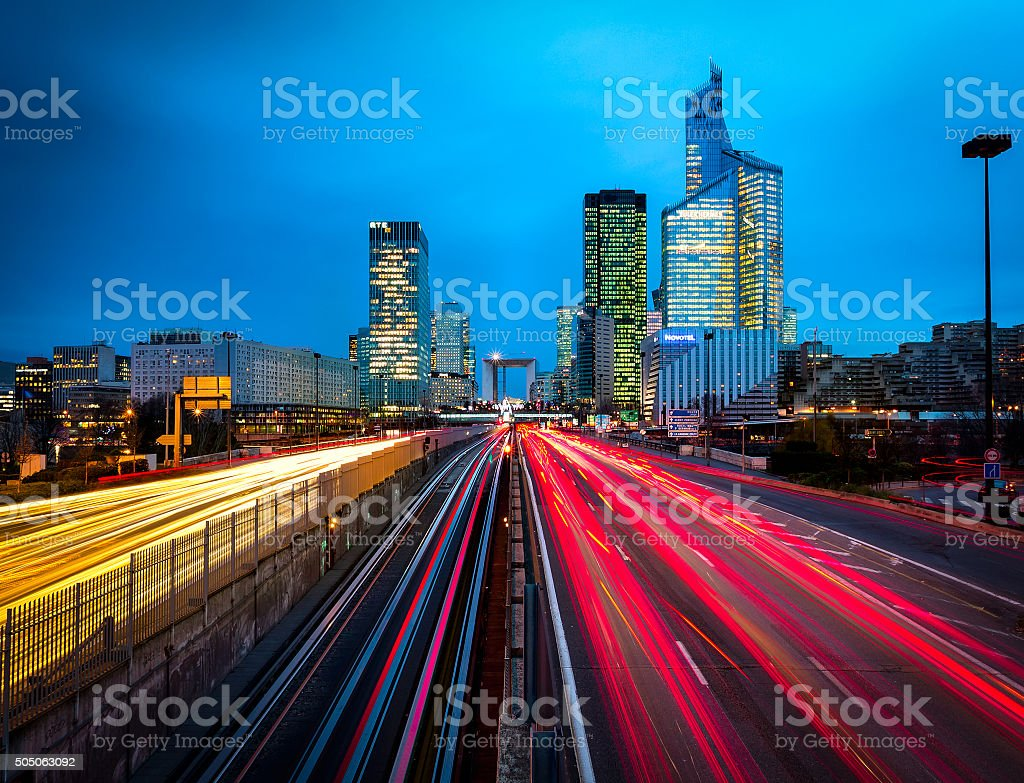The business highway, Paris stock photo