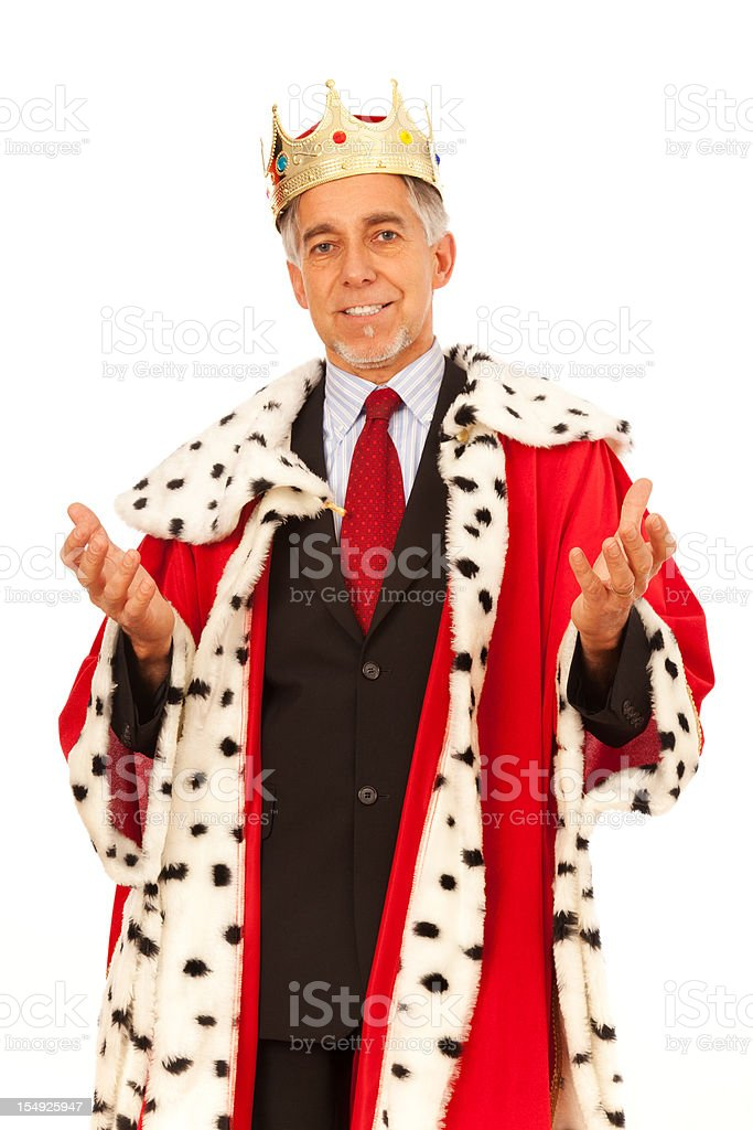 the business king royalty-free stock photo