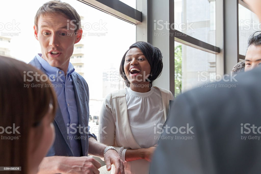 the business people meeting at office stock photo