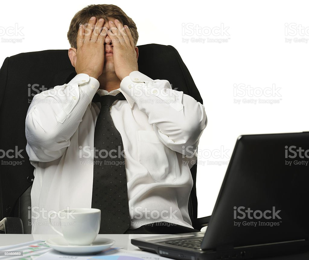 The businessman -  bankrupt royalty-free stock photo