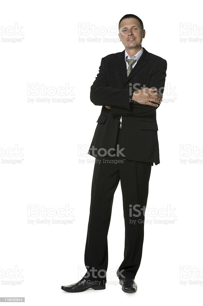 The businessman in a black suit royalty-free stock photo