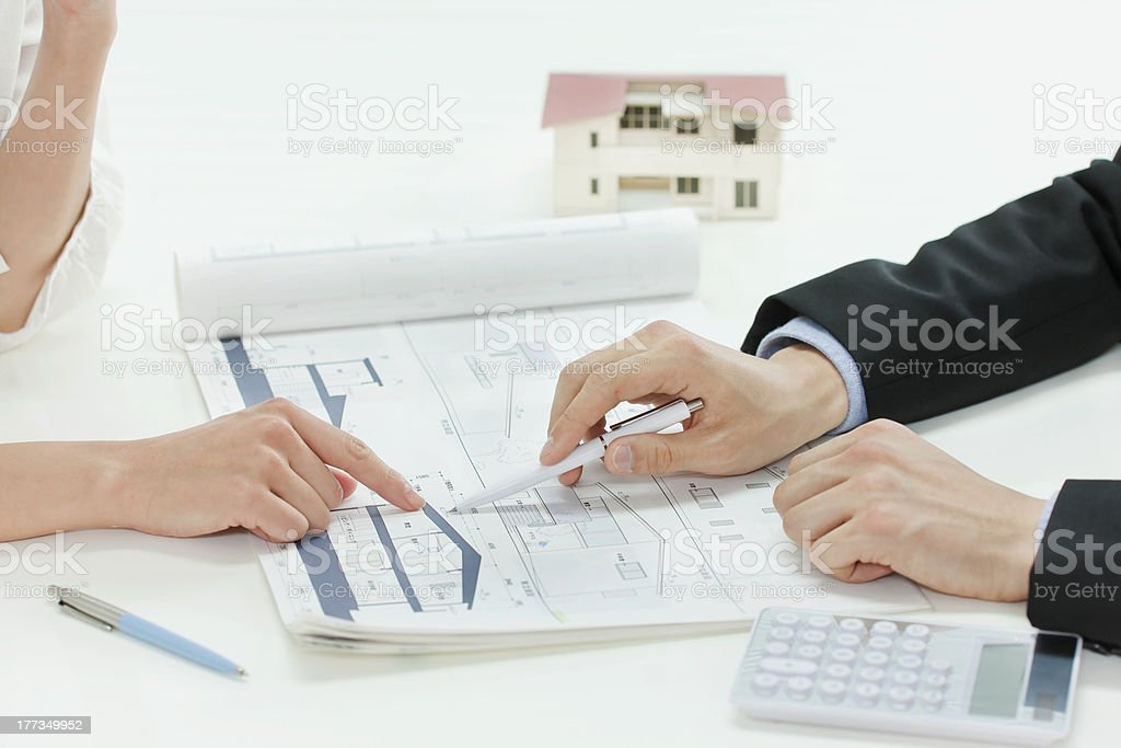 The businessman who explains it royalty-free stock photo