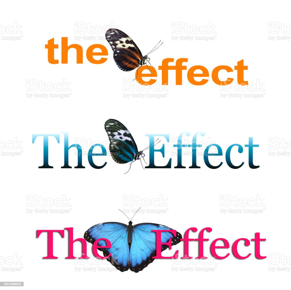 The Butterfly Effect x 3 stock photo