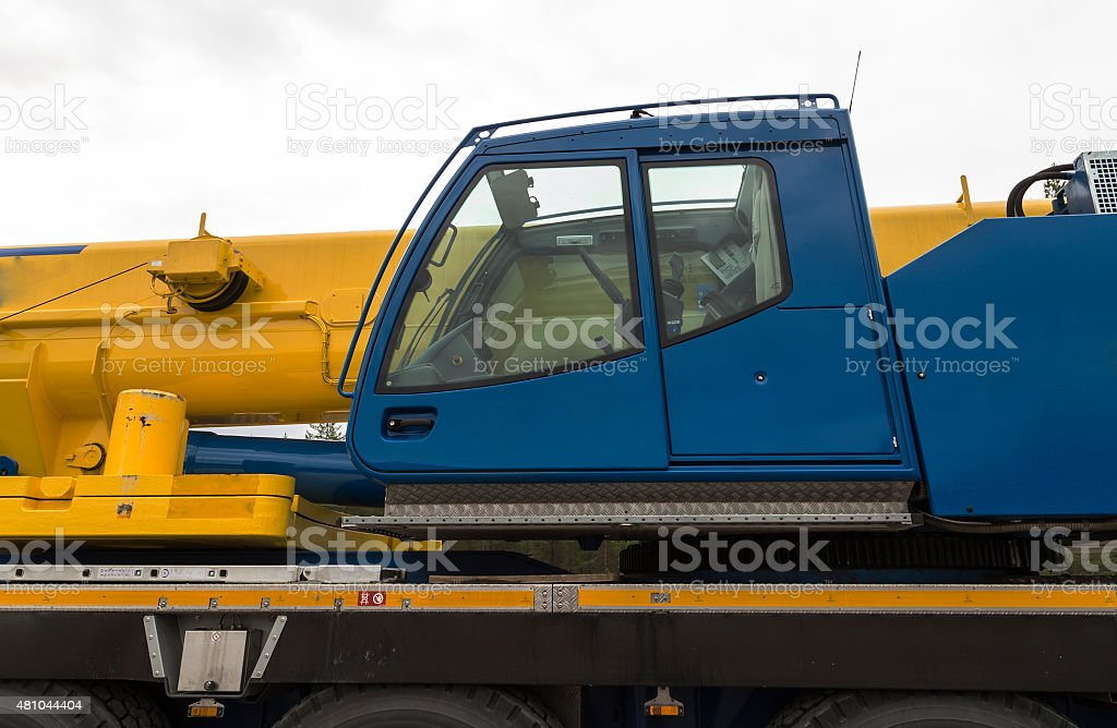The cabin of a crane royalty-free stock photo