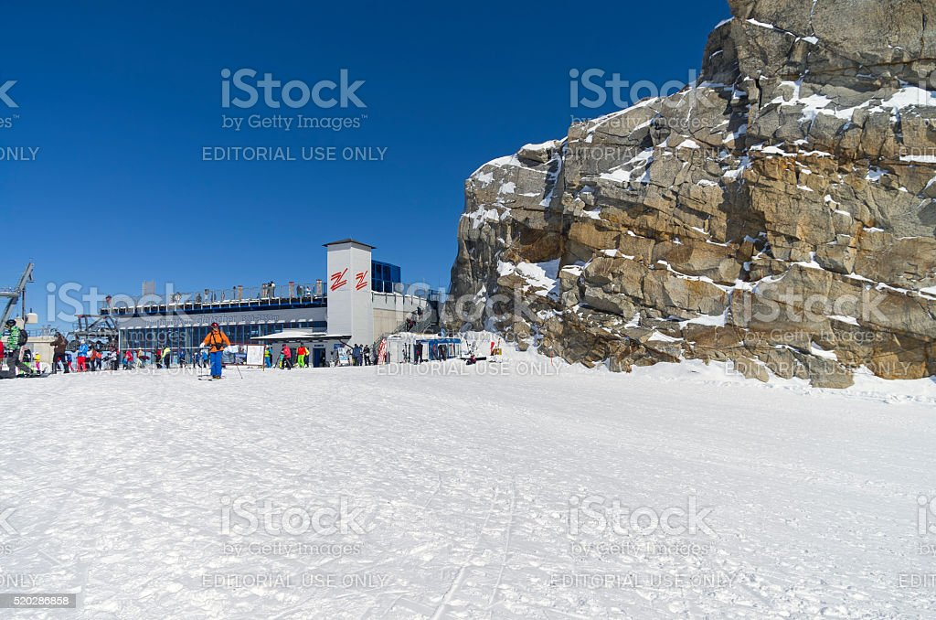 The cable car station. stock photo