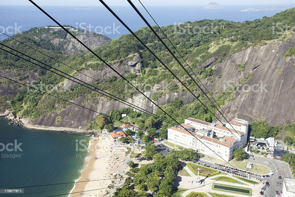 The cable car to Sugar Loaf in Rio de Janeiro royalty-free stock photo