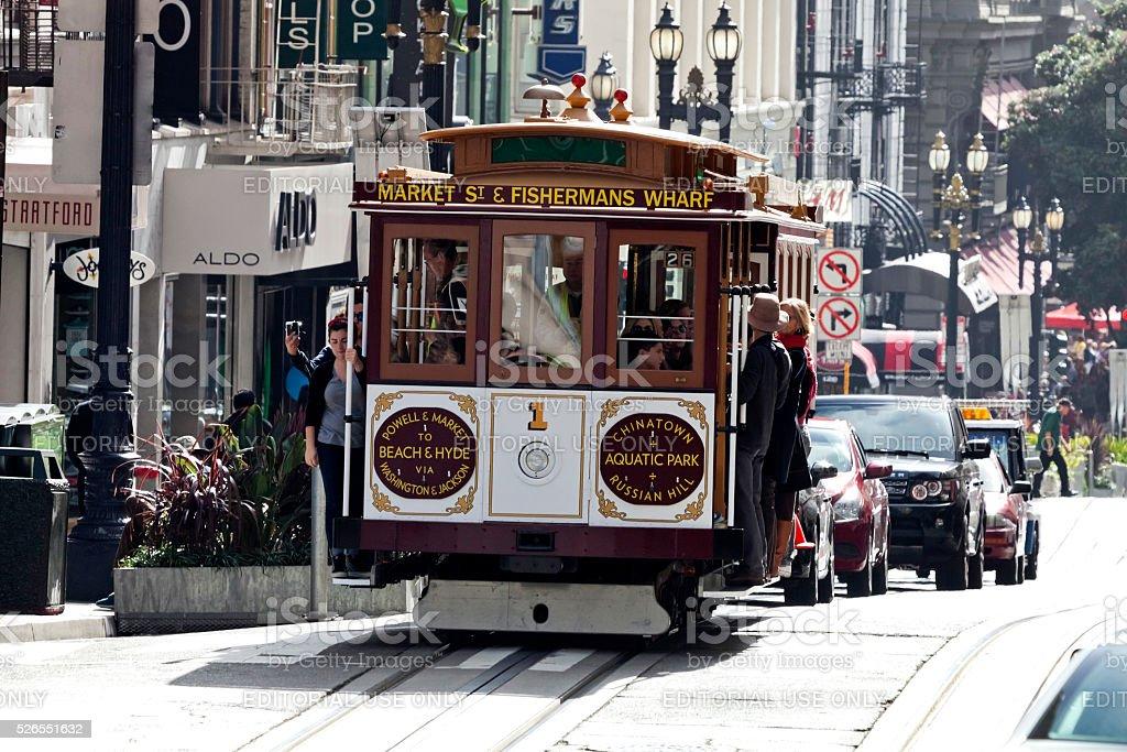 SAN FRANCISCO, USA - The Cable car tram stock photo