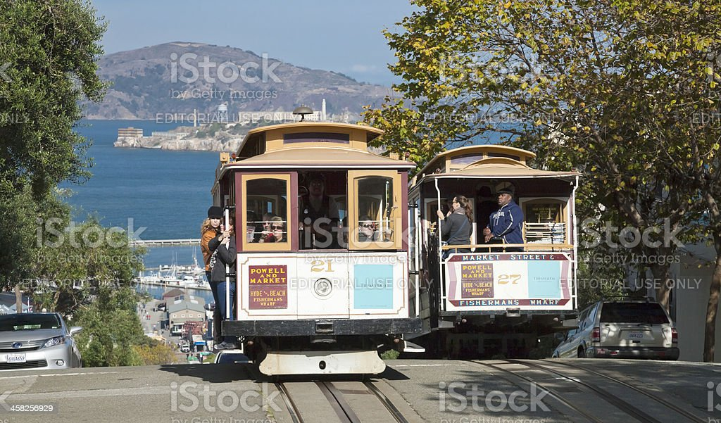 The Cable car tram-San Francisco-USA stock photo