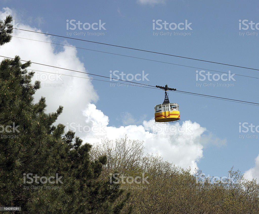 The Cableway. royalty-free stock photo