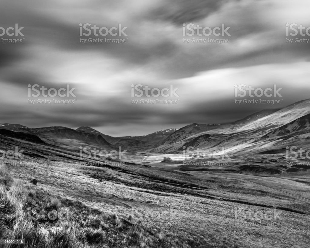 The Cairnwell Munros stock photo