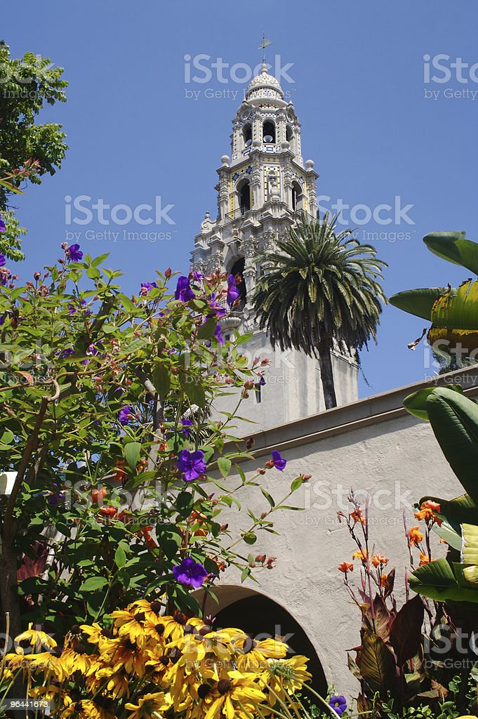 The California Tower in Balboa Park stock photo