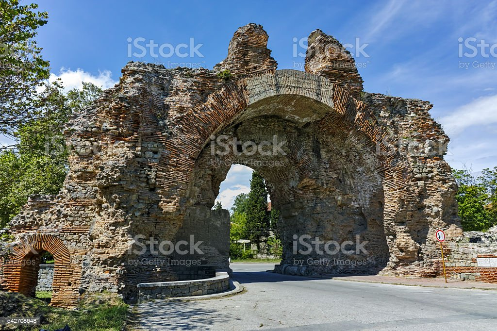 The Camels of ancient roman fortifications in Diocletianopolis, Hisarya, Bulgaria stock photo