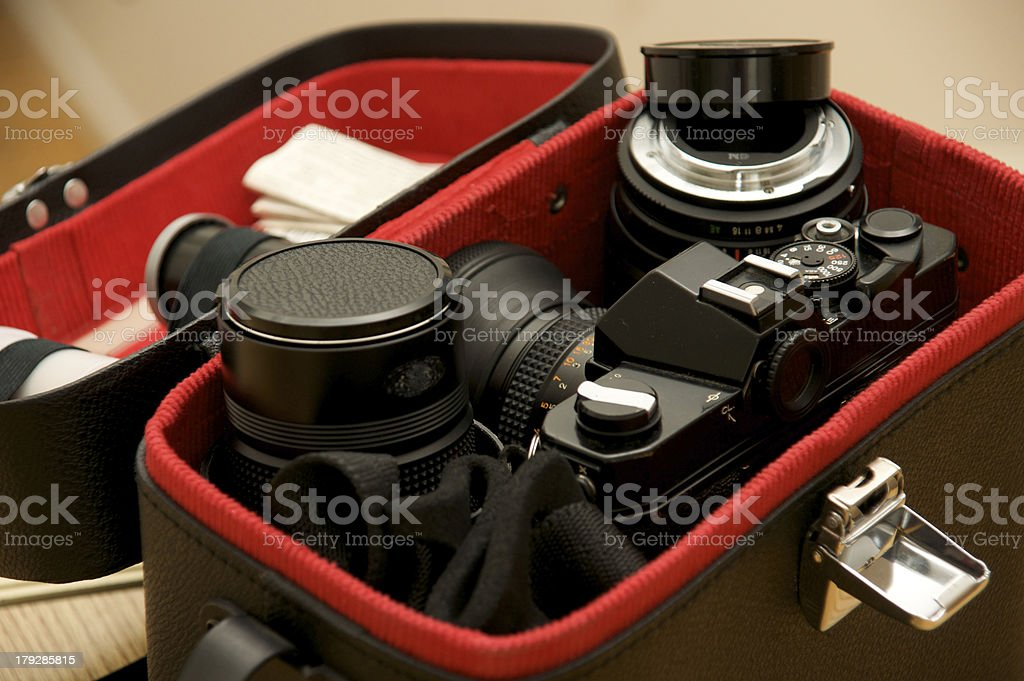 The Camera Bag stock photo