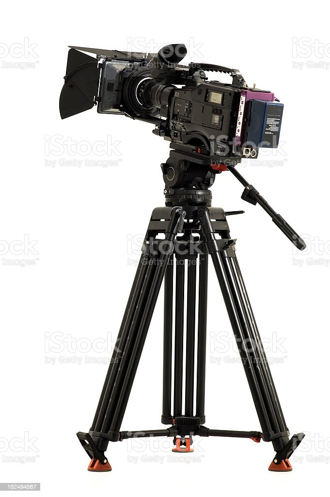 TV the camera in studio. royalty-free stock photo
