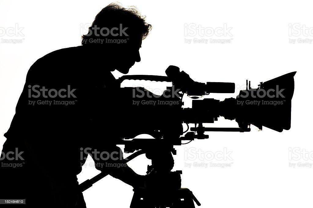 TV the camera in studio. royalty-free stock photo