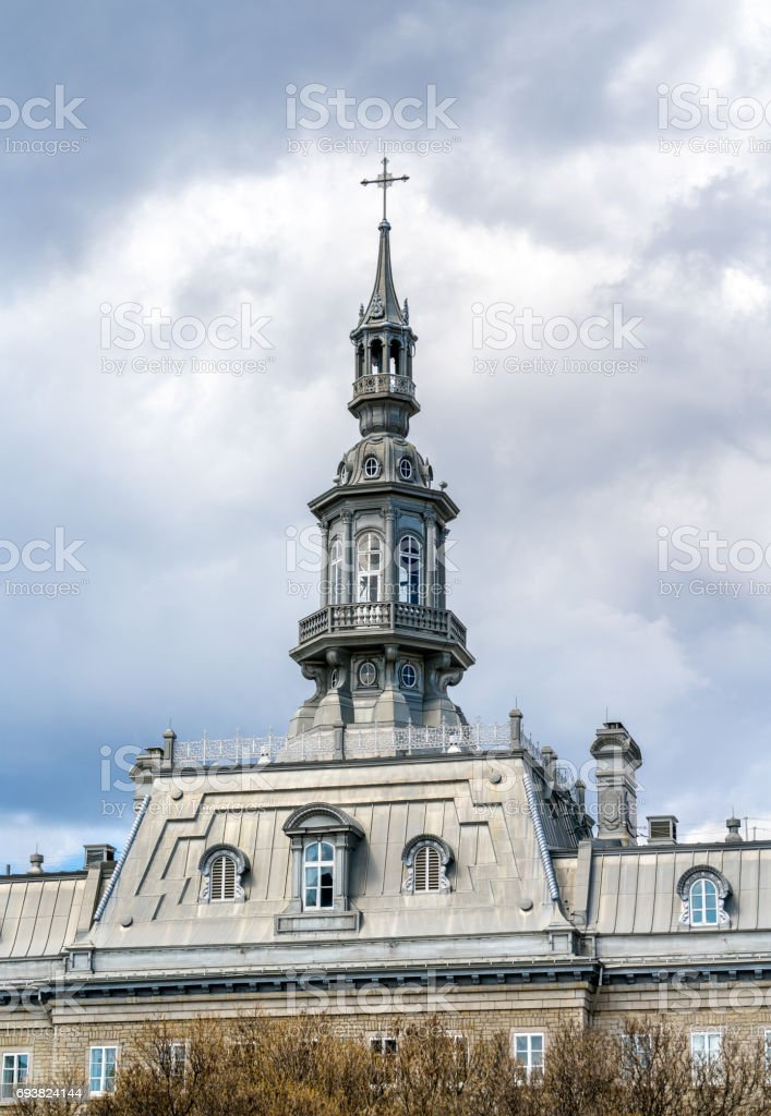 The Camille-Roy Building of the Seminaire de Quebec - Canada stock photo