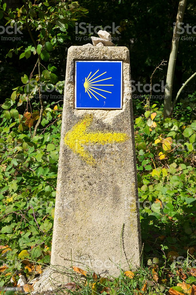 The Camino de Santiago, Way of St. James. stock photo