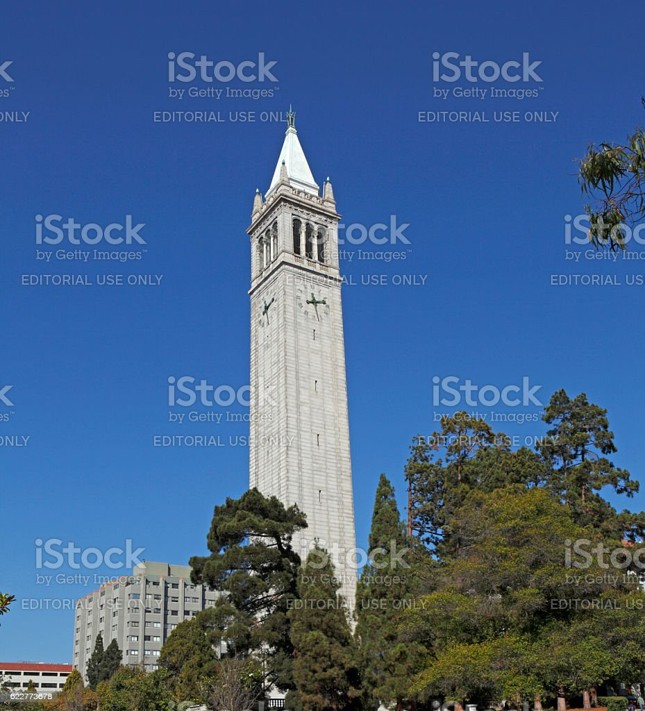 The Campanile At The University of California, Berkeley stock photo