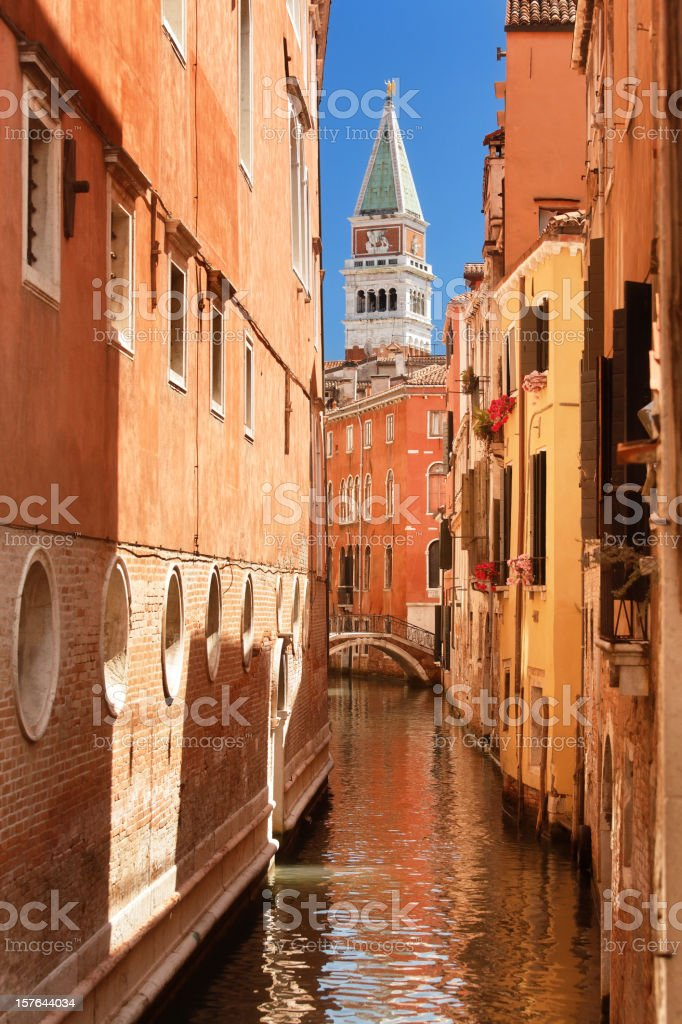 The Campanile of Piazza San Marco royalty-free stock photo
