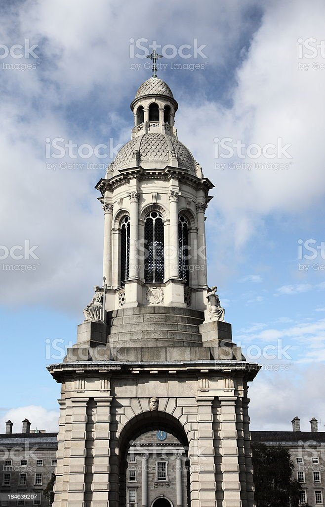 The Campanile, Trinity College, Dulbin stock photo