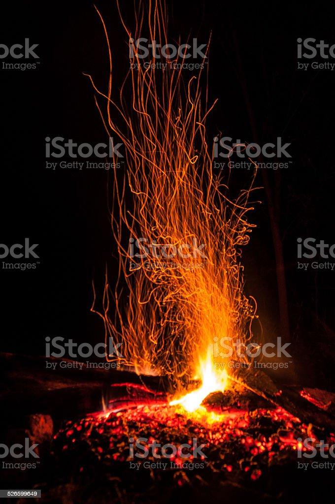 The Campfire stock photo