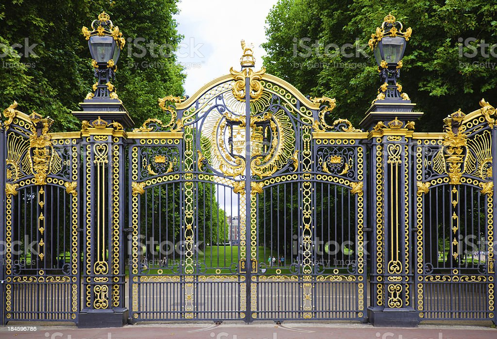 The Canada Gate at Green Park in London, England stock photo