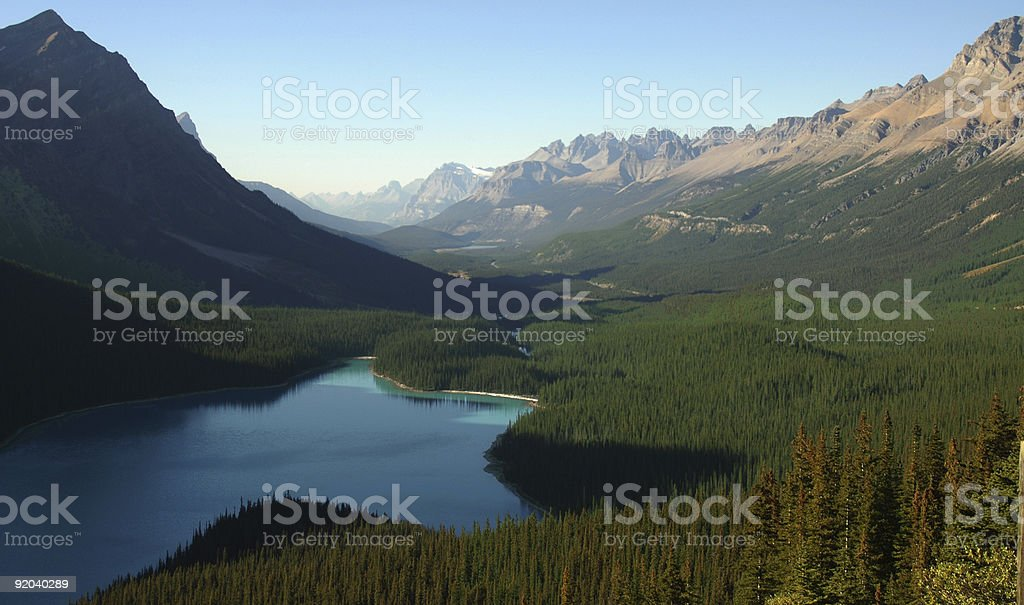 The Canadian Rockies royalty-free stock photo